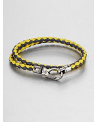 Tod's Leather Double-Wrap Bracelet - Lyst