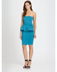 Torn Camilla Strapless Scuba Jersey Peplum Dress - Lyst