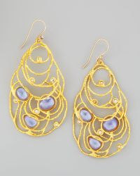 Alexis Bittar Mauritius Golden Lace Drop Earrings - Lyst