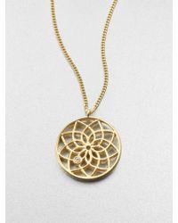 Mija - White Sapphire Dreamcatcher Necklace - Lyst