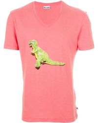 One T Shirt - Dino Rosso Cotton T-shirt - Lyst