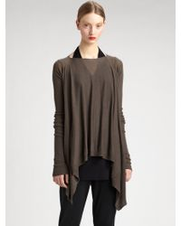 Rick Owens Draped Cashmere Top - Lyst