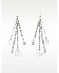 Swarovski - Destiny Long Earrings - Lyst