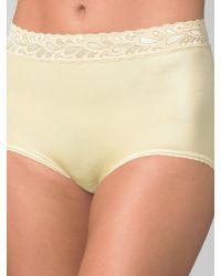 Wacoal Lace-Trim High-Cut Panty - Lyst