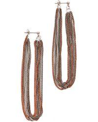Adia Kibur Fringe Earrings - Lyst
