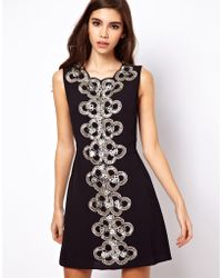 ASOS Collection 60's Embellished Shift Dress - Lyst