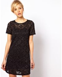 ASOS Collection Sparkle Shift Dress in Lace - Lyst