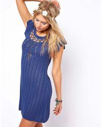 ASOS Collection Crochet Village Swing Dress - Lyst