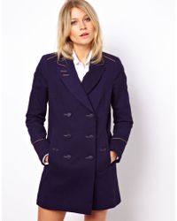 ASOS Collection | Asos Military Pea Coat | Lyst