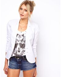 ASOS Collection Linen Tailored Blazer - Lyst