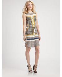 Clover Canyon Geo Foulard Belted Dress - Lyst