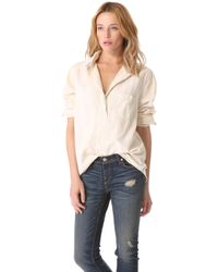 Rag & Bone The Leeds Oversized Shirt white - Lyst