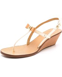 Tory Burch Kailey Wedge Thong Sandals - Lyst
