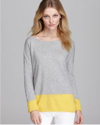 Vince Sweater Cotton Slub Color Block - Lyst
