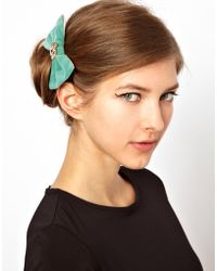 ASOS - Limited Edition Stone Bow Barrette - Lyst