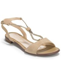 Boutique 9 Pernilla Chain Leather Flat Sandals - Lyst