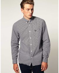Lee 101 Fred Perry Long Sleeve Gingham Check Shirt - Lyst