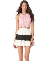 Joy Cioci - Samara Lace Crop Top - Lyst