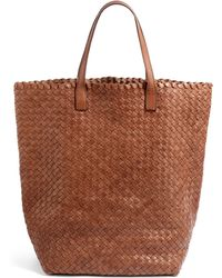 Massimo Palomba - Cancun Woven Leather Slim Tote - Lyst
