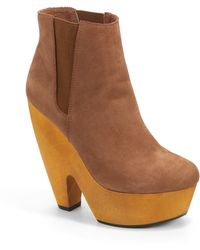 Messeca - Juliana Platform Ankle Bootscognac - Lyst