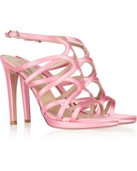 Valentino Satin Sandals - Lyst