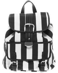 Asos Backpack Bag in Mono Stripe - Lyst