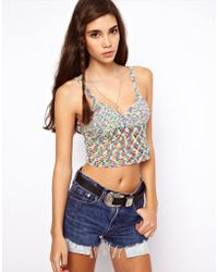 Asos Crochet Bralet in Twist - Lyst