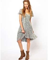 Denim & Supply Ralph Lauren - Denim Supply Floral Print Tea Dress - Lyst