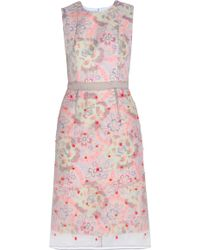 Erdem Helena Sleeveless Overlay Dress - Lyst