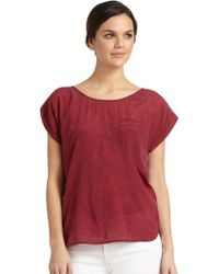 French Connection Sand Dune Printed Pocket Top - Lyst