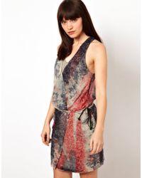 Improvd - Simona Dress with Wrap Detail - Lyst