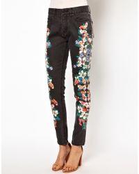 Insight Flower Print Skinny Jeans - Lyst