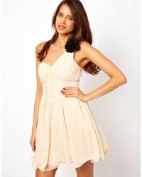 Little Mistress One Shoulder Prom Dress - Lyst