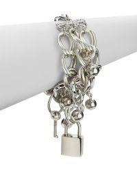 Boutique Moschino - Triple Strand Lock Key Bracelet - Lyst