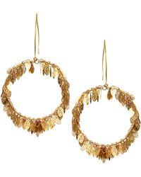 Sam Ubhi - Statement Leaf Hoop Earrings - Lyst