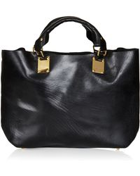 Topshop Plated Leather Tote - Lyst