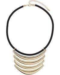 Topshop Tier Bar Cord Collar gold - Lyst