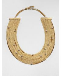 ABS By Allen Schwartz - Glass Stone Multichain Necklace - Lyst