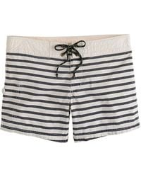 J.Crew Surf Stripe Board Shorts - Lyst