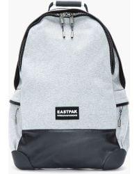 8c62bcbd6686 Kris Van Assche - Heather Grey Leathertrimmed Backpack - Lyst