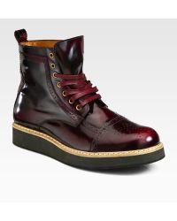 McQ by Alexander McQueen Derby Toe Brogue Boots - Lyst
