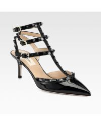 Valentino Punkouture Rockstud Patent Leather Pumps - Lyst
