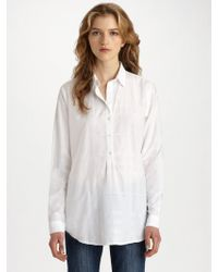 Burberry Brit Tonal Check Cotton Shirt - Lyst