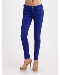 Current/Elliott The Low Rise Cropped Skinny Jeans - Lyst