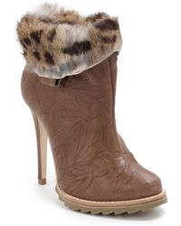 Plomo - Dalia Rabbit Furtrimmed Ankle Boots tobacco - Lyst