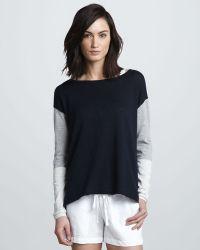 Vince Tricolor Slub Sweater - Lyst