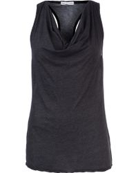 James Perse Cowl Racer Back Tank - Lyst