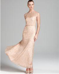 Aidan Mattox Blouson Gown Sleeveless Beaded - Lyst