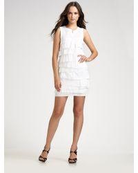 BCBGMAXAZRIA Tiered Dress - Lyst