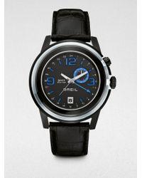 Breil Dual Time Strap Watch - Lyst